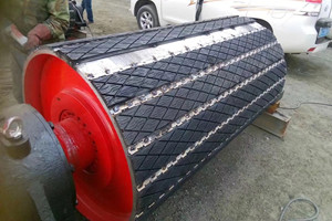Weld on rubber lagging, lagging for conveyor drum